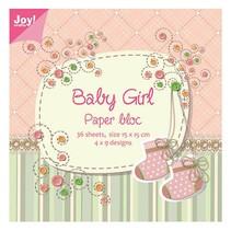 Paper block, 15x15cm, Baby Girl