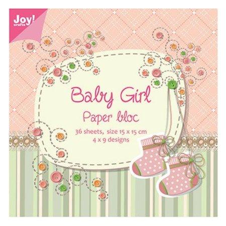 Joy!Crafts und JM Creation Papir blok, 15x15cm, Baby Girl