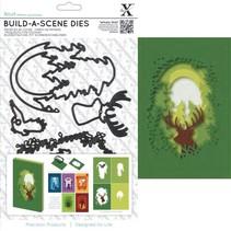 Skæring og prægning stencil til en skygge box card, rensdyr
