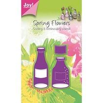 Joy Crafts, flasker og etiketter, 31x55/27x71/21x18mm