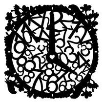Masque Stencil Horloge, dessins, 300 x 300 mm