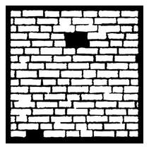 Mask Stencil Brick, design, 300 x 300mm