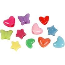Mélange de perles en plastique sous forme de chiffre dans un large choix de couleurs et de formes