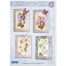 Craft Kit for 4 noble flower cards