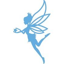 Estampación y corte de la plantilla, ángel, hada