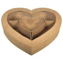 Pappm. Coeur de tri FSC Recyclé 100%, 27x26x5cm, m.Sichtfenster, sujets M.5
