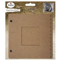 Ring Binder m. Passepartout vindue, 15,2x15,2cm