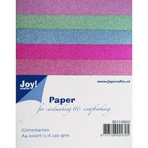 5 Glitter carton en 5 couleurs différentes