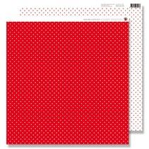 Papier Scrapbooking: petits points rouge