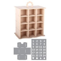 mueble 3D Adviento Calendario + 2 Plantillas
