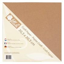 Kraft papir, 30,5 x 30,5 cm, 300 g, 20 ark