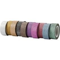 Selvklæbende tape med glitter overflade