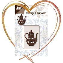 Embossing and cutting template: Teapot