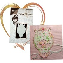Embossing and cutting template: Owl