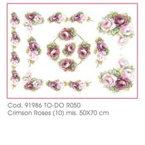 50x70cm papel Soft - Roses carmesí