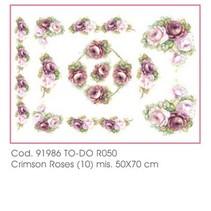 Blødt papir 50x70cm - Crimson Roser
