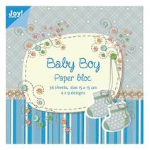 Paper block, 15x15cm, Baby Boy