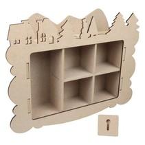 Tricot Kits MDF, boîte de collecte, d'hiver décoration