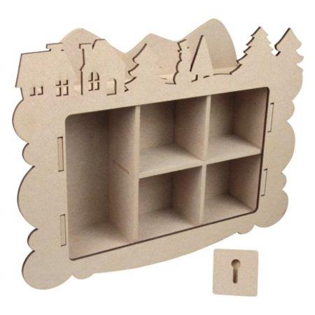 Objekten zum Dekorieren / objects for decorating Artesanía Kits MDF, caja de recogida, decoración de invierno