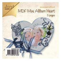 Tricot Kits MDF, mini album Coeur