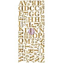 Chapa de madera oscuras del alfabeto, alfabeto, bosques