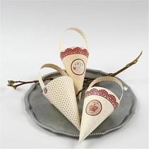 10 cônes décoration, H: 13 cm de haut