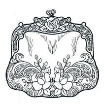 timbre en caoutchouc, des expressions créatives, poche