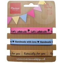 Decorative ribbons sorted with Text