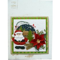Ponsen en embossingmal: De Kerstman terug in voorraad!