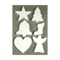 6 Weihnachtsmotive i polystyren