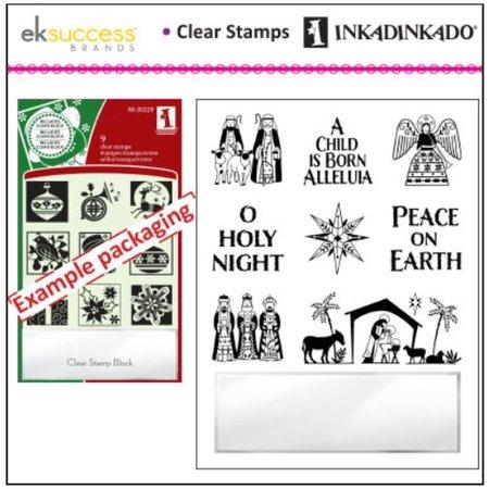 Stempel / Stamp: Transparent Gennemsigtige frimærker, julemotiver, herunder små akryl blok!