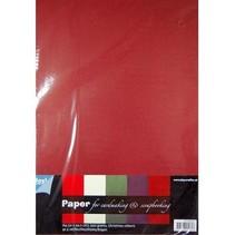 carta di formato A4 con SET 25 fogli con colori caldi, 200gsm !!