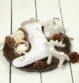 Objekten zum Dekorieren / objects for decorating Cifras textiles, H: 26 cm, Nikolaus Calcetines 2 piezas