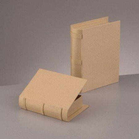 Objekten zum Dekorieren / objects for decorating Caja libro, Set, 22,5x18x6 y 18x13,5x4,5cm, 2 - pieza