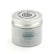 Cósmica pasta shimmer textura, plata