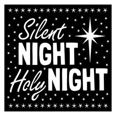 Schablonen und Zubehör für verschiedene Techniken / Templates Universele Sjablonen, Silent Night