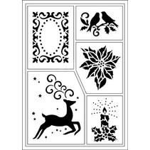 Flexible stencils, A5, Christmas motifs