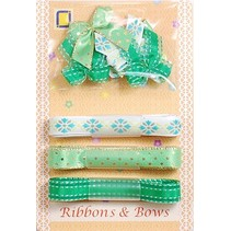 Collection: Ribbon and Typ of grinding green tones,