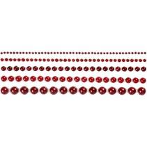 Demi perles, taille 2-8 mm, rouge, classé 140