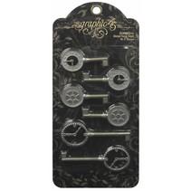 Shabby Chic Metal Clock Keys