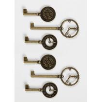 Touches d'horloge Shabby Chic en métal
