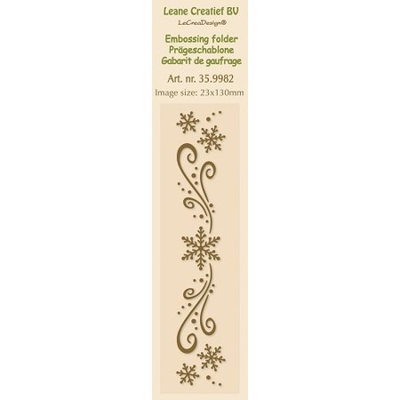 Leane Creatief - Lea'bilities Embossingsfolder, bordura 2.3x13cm, cristales de hielo