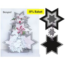 Stamping template: 7 stars