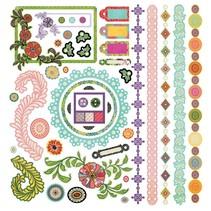 Indie bloom stickers, 30,5 x 30,5cm