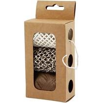 chaîne de papier, beige harmonie / brun, 3x10 m