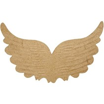 1 aile avec empreintes, B: 21 cm, H: 13 cm