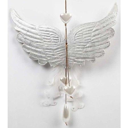 Objekten zum Dekorieren / objects for decorating 1 aile avec empreintes, B: 21 cm, H: 13 cm
