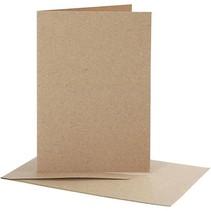 10 Karten und Umschläge, Kraftpapier