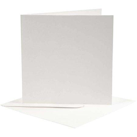 KARTEN und Zubehör / Cards 10 cartes et enveloppes, format carte 12,5x12,5 cm, blanc cassé