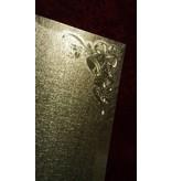 KARTEN und Zubehör / Cards 2 dobbelt kort i metal gravering, farve metalform med klokke motiv